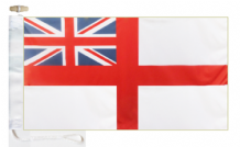 Royal Navy White Ensign Courtesy Boat Flags (Roped and Toggled)